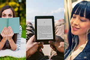 Leer libros impresos libros digitales o audiolibros